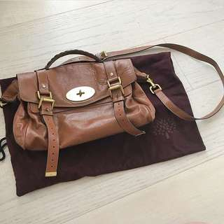 Mulberry soft buffalo leather satchel
