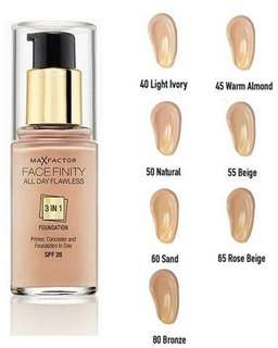 🚚 Max Factor FaceFinity All Day Flawless 3-In-1 Foundation - 50 Natural
