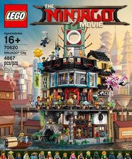 全新 Lego 70620忍者城 連原裝啡箱