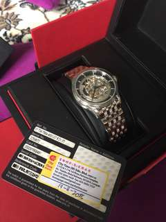 Authentic Oris skeleton watch