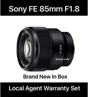 ( Temporary Out of Stock ) Sony FE 85mm f1.8 BNIB
