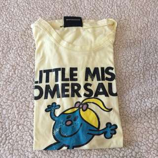 Pale Yellow Little Miss Somersault Graphic T-Shirt