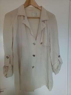 Vintage OROTON cream shirt sz12