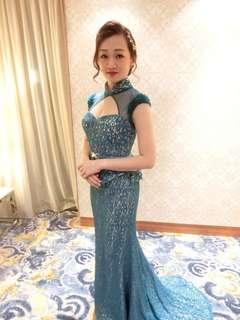 Custom made premium wedding gown