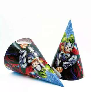 Superheroes Marvel Avengers Party supplies - party hats
