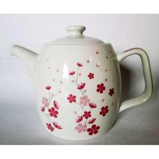 800ml Teapot + tutup desain Sakura Imlek