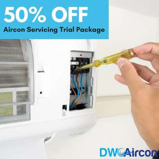 50% OFF Aircon Servicing and Maintenance Trial Package