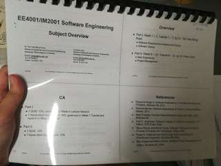 Ee4001 software engineering notes