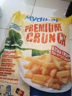 Kentang goreng Mydibel Premium Crunch 2,5kg (ada repack 1/2kg dan 1kg)