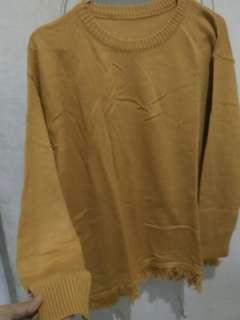 Sweater rajut mustard