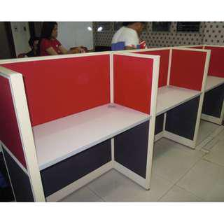 RED FULL FABRIC Office Partitions -Cubicles Office Furniture
