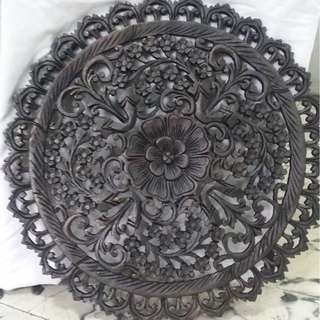 Antique repro wood carvings wall décor (from Thailand)