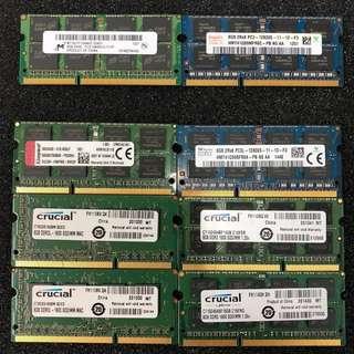 8GB DDR3 1.35V & 1.5V Laptop RAM
