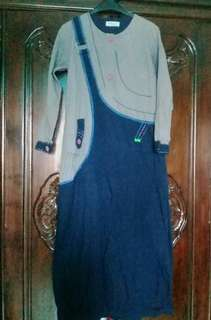 Navy Grey Dress #MauDecay