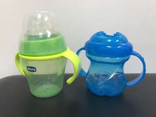 Chicco and Nuby Sippy Cups