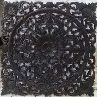 Antique repro wood carvings wall décor (Thailand)