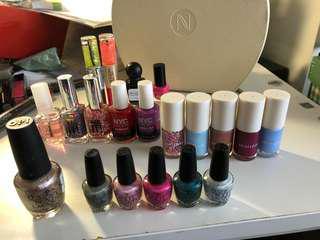 20 nail polishes