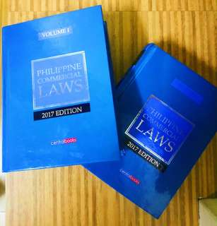 Commercial Laws Codal Vols. 1&2 - Central (2017 ed.)