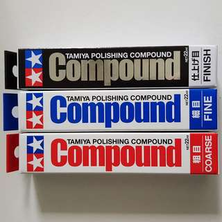 Tamiya Polishing Compound (Coarse, Fine, Finish)