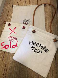Hermes 帆布袋(only bag)