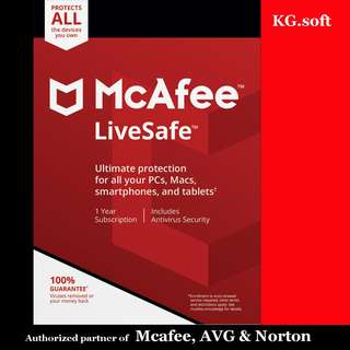 🔥McAfee LiveSafe 2018 for 5 or 10 devices or unlimited devices 1-year🔥