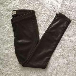 Hollister leather jeggings