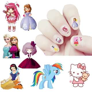 cartoon & princess nail sticker儿童卡通指甲贴