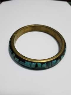 藏飾復古貝殼銅手鐲