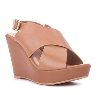 S&H wedge chic sandals (size 5) brand new