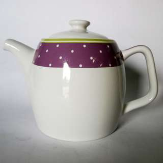800ml Teapot + tutup desain Purple Dot AW 282