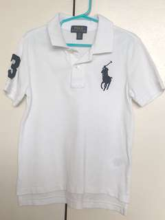 Ralph Lauren White Polo Shirt