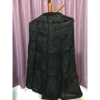 🚚 雪紡長裙-黑色