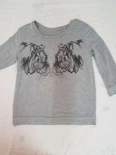 Grey tiger sweater