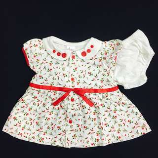 230-0001 Baby Girl Floral Dress w Panty