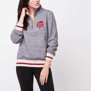 Roots cabin quarter zip sweater.