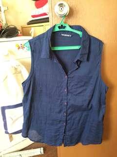 Terrenova Blue Sleeveless blouse