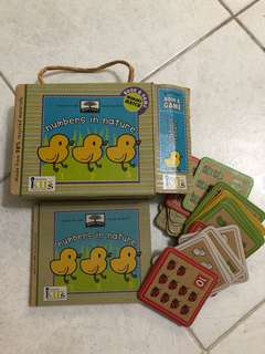 Counting board book with cards