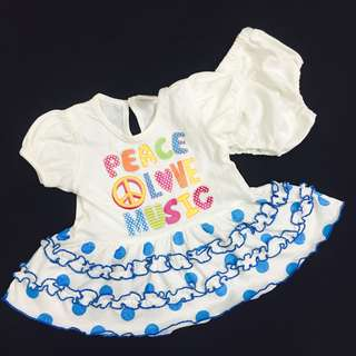 230-0004 Baby Girl Polka Dot Dress