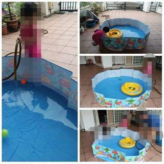 Foldable Water Pool. Pumpless