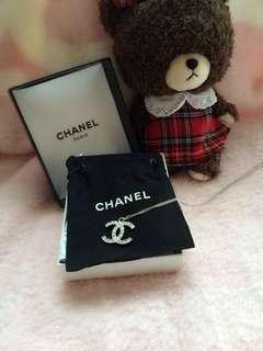 閒置,Chanel方鑽短頸鏈,100% 正品!