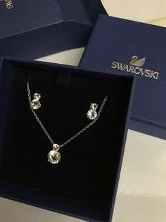 Swarovski 頸鏈、耳環