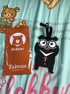台灣 OhBear行李牌