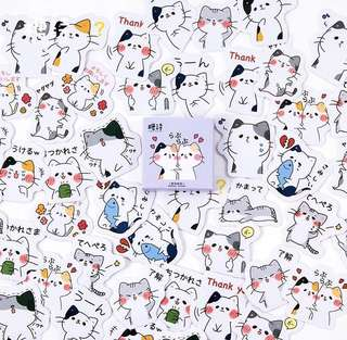 [PO] Box Stickers: Cute cat