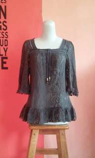 Lace outer grey
