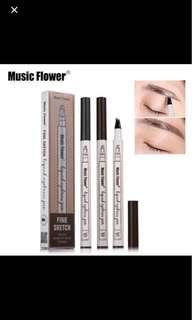 Music flower eyebrow pencil