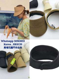 韓國直送可摺式防uv太陽帽