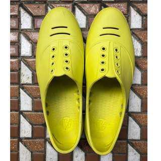 法國品牌PRAIAZ 亮黃色膠鞋/雨鞋