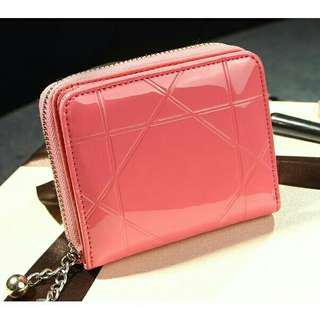 Korean Style Leather Short Purse