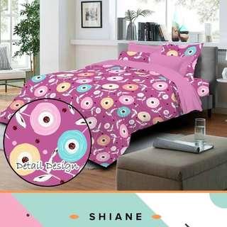 Bedcover set Shiane pink katun CVC