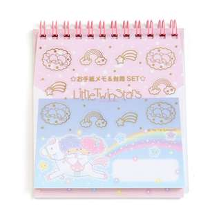 Japan Sanrio Little Twin Stars Cutting Letter Memo & Mini Envelope Set